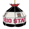 Trademark Global® 16in. Stained Glass Tiffany Lamp, The Ohio State NCAA, Brutus