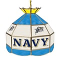 Trademark Global® 16in. Stained Glass Tiffany Lamp, U.S. Naval Academy NCAA