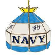 "Trademark Global® 16"" Stained Glass Tiffany Lamp, U.S. Naval Academy NCAA"