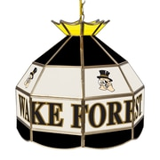 """Trademark Global® 16"""" Stained Glass Tiffany Lamp, Wake Forest University NCAA"""