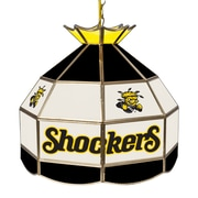 "Trademark Global® 16"" Stained Glass Tiffany Lamp, Wichita State U NCAA"