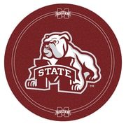 "Trademark Global® NCAA® 28"" Solid Wood/Chrome Pub Table, Brown, Mississippi State University"
