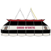"""Trademark Global® 40"""" Stained Glass Tiffany Lamp, The Ohio State NCAA, Brutus"""