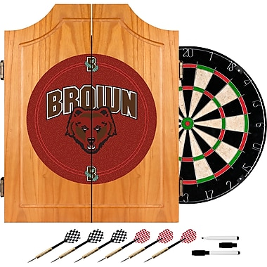 Trademark Global® Solid Pine Dart Cabinet Set, NCAA Brown University