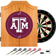 Trademark Global® Solid Pine Dart Cabinet Set, NCAA Texas A&M University