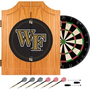 Trademark Global® Solid Pine Dart Cabinet Set, NCAA Wake Forest University