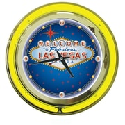 Las Vegas Neon Clock - 14 inch Diameter (POKER6542)