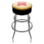 Trademark Global® Vinyl Padded Swivel Bar Stool, Yellow/Black, Miller High Life Logo