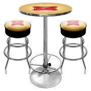 Trademark Global® Ultimate Pub Table and Stools Combo, Miller High Life