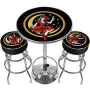Trademark Global® 2 Bar Stools and Table Gameroom Combo, Girl in The Moon