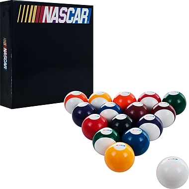 Trademark Global® Set of 16 Billiard Balls, NASCAR