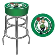 Trademark Global® Vinyl Padded Swivel Bar Stool, Green, Boston Celtics NBA