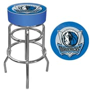 Trademark Global® Vinyl Padded Swivel Bar Stool, Blue, Dallas Mavericks NBA