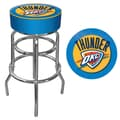 Trademark Global® Vinyl Padded Swivel Bar Stool, Blue, Oklahoma City Thunder NBA