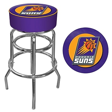 Trademark Global® Vinyl Padded Swivel Bar Stool, Purple, Phoenix Suns NBA
