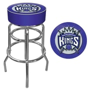 Trademark Global® Vinyl Padded Swivel Bar Stool, Blue, Sacramento Kings NBA