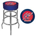 Trademark Global® Vinyl Padded Swivel Bar Stool, Blue, Washington Wizards NBA