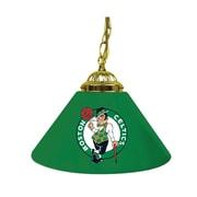 "Trademark Global® 14"" Single Shade Bar Lamp, Green, Boston Celtics NBA"