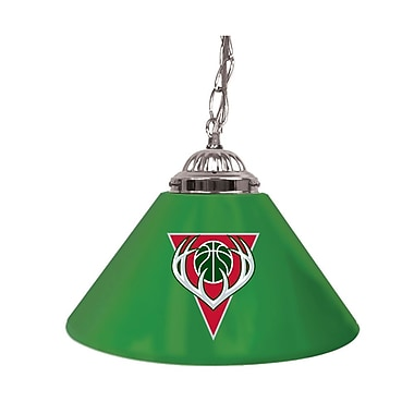 Trademark Global® 14in. Single Shade Bar Lamp, Green, Milwaukee Bucks NBA