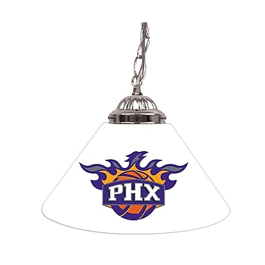 Trademark Global® 14in. Single Shade Bar Lamp, White, Phoenix Suns NBA