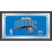 "Trademark Global® 15"" x 27"" Black Wood Framed Mirror, Orlando Magic NBA"