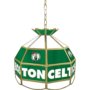 Trademark Global® 16in. Tiffany Lamp, Boston Celtics NBA