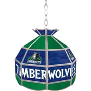 "Trademark Global® 16"" Tiffany Lamp, Minnesota Timberwolves NBA"