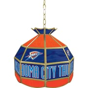 "Trademark Global® 16"" Tiffany Lamp, Oklahoma City Thunder NBA"