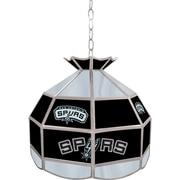 "Trademark Global® 16"" Tiffany Lamp, San Antonio Spurs NBA"