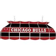 "Trademark Global® 40"" Tiffany Lamp, Chicago Bulls NBA, Black/Red"