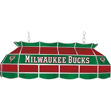 Trademark Global® 40in. Tiffany Lamp, Milwaukee Bucks NBA, Green/Red
