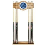 Trademark Global® Wood and Glass Billiard Cue Rack With Mirror, Memphis Grizzlies NBA