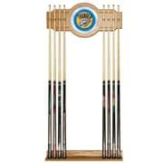 Trademark Global® Wood and Glass Billiard Cue Rack With Mirror, Oklahoma City Thunder NBA