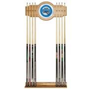 Trademark Global® Wood and Glass Billiard Cue Rack With Mirror, Orlando Magic NBA