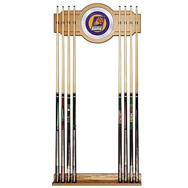 Trademark Global® Wood and Glass Billiard Cue Rack With Mirror, Phoenix Suns NBA