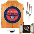 Trademark Global® Solid Pine Dart Cabinet Set, Atlanta Hawks NBA