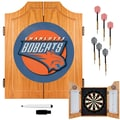Trademark Global® Solid Pine Dart Cabinet Set, Charlotte Bobcats NBA