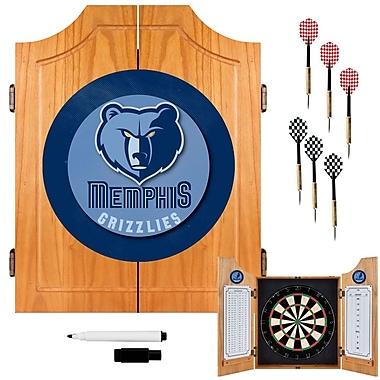 Trademark Global® Solid Pine Dart Cabinet Set, Memphis Grizzlies NBA