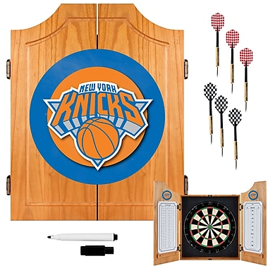 Trademark Global® Solid Pine Dart Cabinet Set, New York Knicks NBA