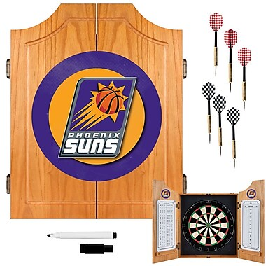 Trademark Global® Solid Pine Dart Cabinet Set, Phoenix Suns NBA
