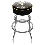 Trademark Global® Vinyl Padded Swivel Bar Stool, Black, NHL® Pittsburgh Penguins