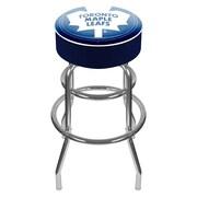 Trademark Global® Vinyl Padded Swivel Bar Stool, Blue, NHL® Toronto Maple Leafs