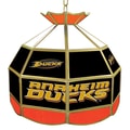 Trademark Global® 16in. Stained Glass Tiffany Lamp, NHL Anaheim Ducks
