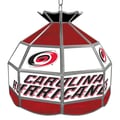 Trademark Global® 16in. Stained Glass Tiffany Lamp, NHL Carolina Hurricanes