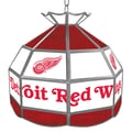 Trademark Global® 16in. Stained Glass Tiffany Lamp, NHL Detroit Redwings