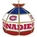 Trademark Global® 16in. Stained Glass Tiffany Lamp, NHL Montreal Canadiens