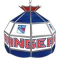 Trademark Global® 16in. Stained Glass Tiffany Lamp, NHL New York Rangers
