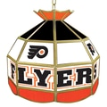 Trademark Global® 16in. Stained Glass Tiffany Lamp, NHL Philadelphia Flyers