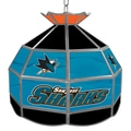 Trademark Global® 16in. Stained Glass Tiffany Lamp, NHL San Jose Sharks