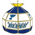 Trademark Global® 16in. Stained Glass Tiffany Lamp, NHL St. Louis Blues